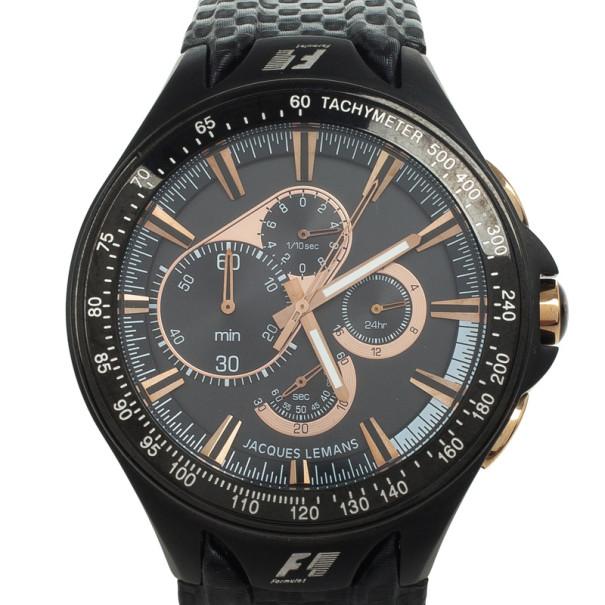 Jacques Lemans Monte Carlo F5016 SS Mens Wristwatch Tachymeter 48 MM