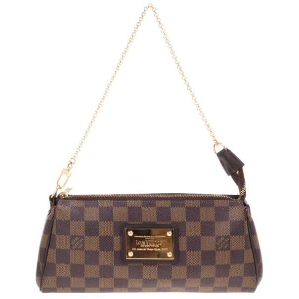 cb516a5ec37f Buy Louis Vuitton Damier Ebene Eva Clutch 12901 at best price