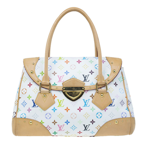 372000e90275 Buy Louis Vuitton White Multicolor Monogram Leather Beverly GM 8355 at best  price