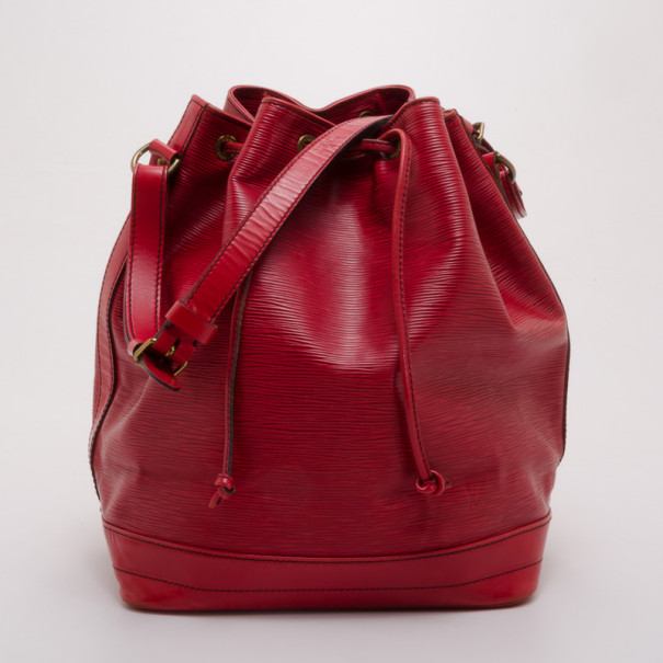 e8a32321b160 Buy Louis Vuitton Red Epi Noe GM Bucket Bag 37649 at best price