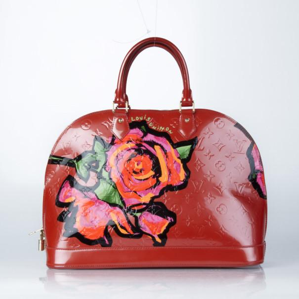 a4e62fe961d6 ... Louis Vuitton Limited Edition Roses Alma MM Vernis in Orange Sunset.  nextprev. prevnext