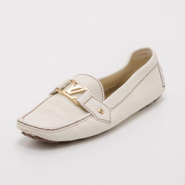 Louis Vuitton Cream Calf Leather Monte