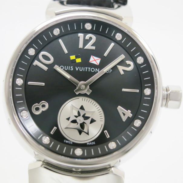 140c1a07b6 Louis Vuitton Tambour Lovely Cup SS Diamond Womens Wristwatch 28 MM