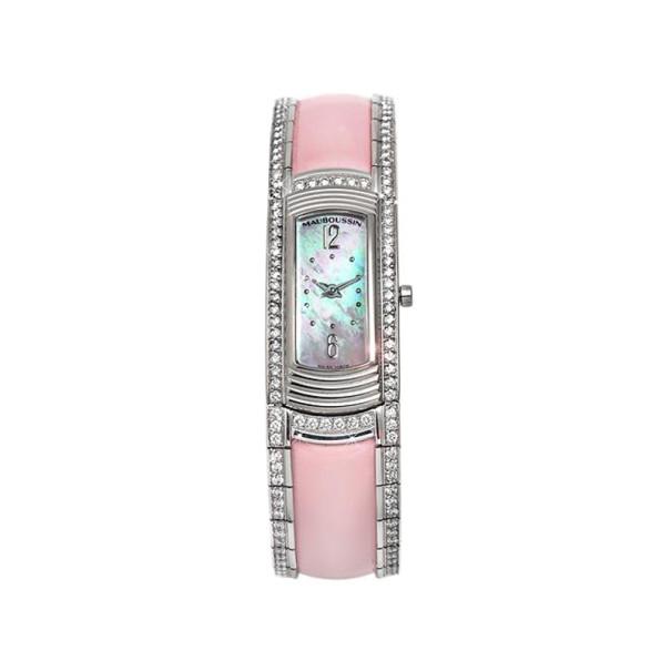 Mauboussin Swiss Quartz Movement Diamond 18K Gold Watch