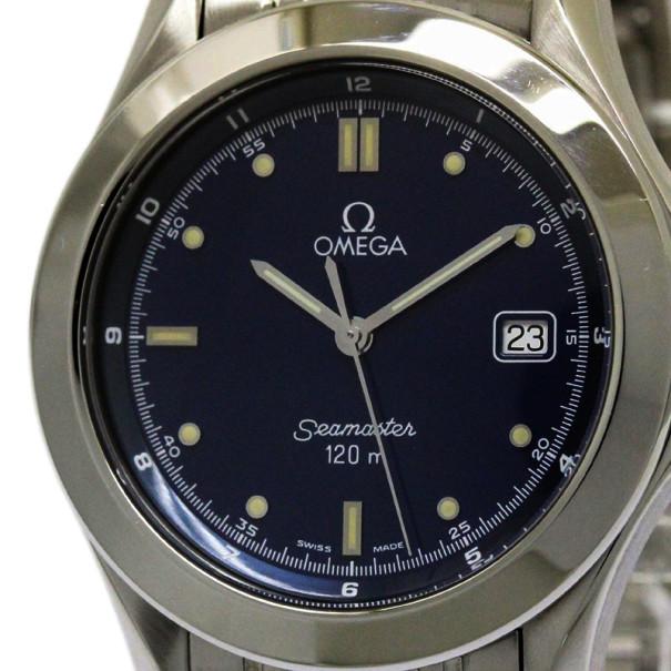 86c4c01d3 إشتري ساعة أوميغا سي ماستر بروفيشتال زرقاء ستانلس ستيل للرجال 36 مم ...