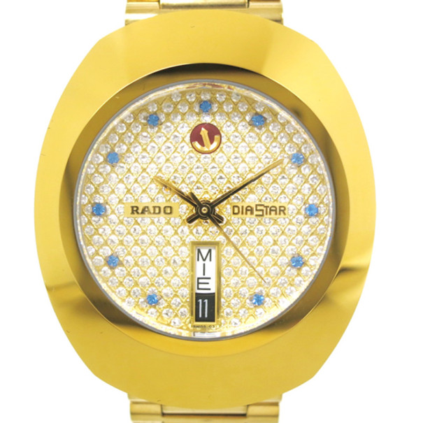 Buy Rado Diastar Gold Plated Ss Gold Mens Wristwatch 33122