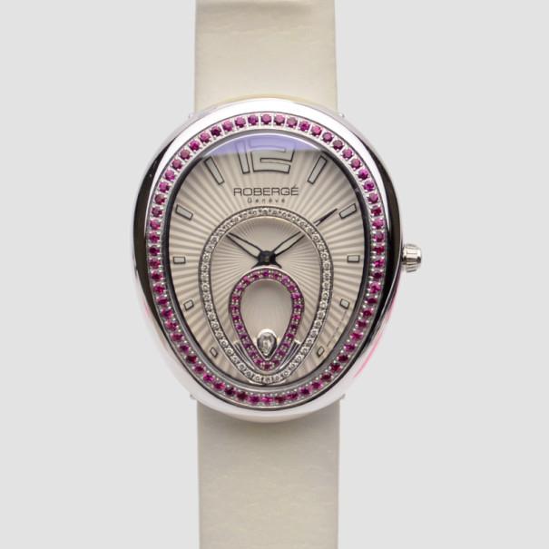 Robergé Vela SS Leather Womens Wristwatch 40MM