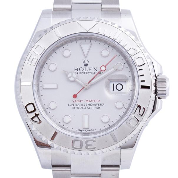 d700faea29498 إشتري ساعة رولكس يخت ماستر فضي ستانلس ستيل للرجال 40مم 11934 بأفضل ...