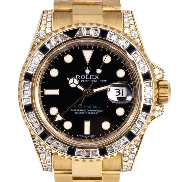 736359024f6 ... Rolex Oyster Perpetual GMT-Master II 18K Yellow Gold Mens Wristwatch 40  MM. nextprev. prevnext