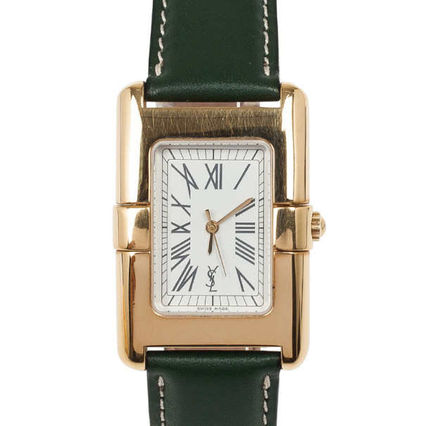 Saint Laurent Paris Rectangular SS Womens Wristwatch 30 MM