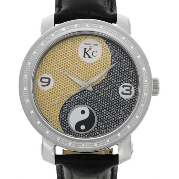 Techno Com Diamond SS Mens Wristwatch