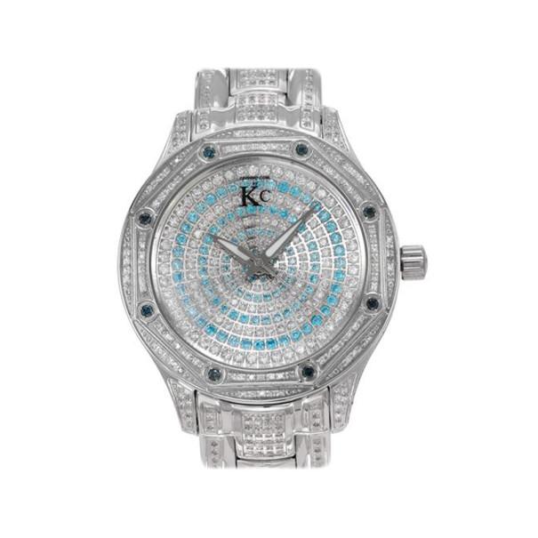 Techno Com Silver Diamond Mens Watch
