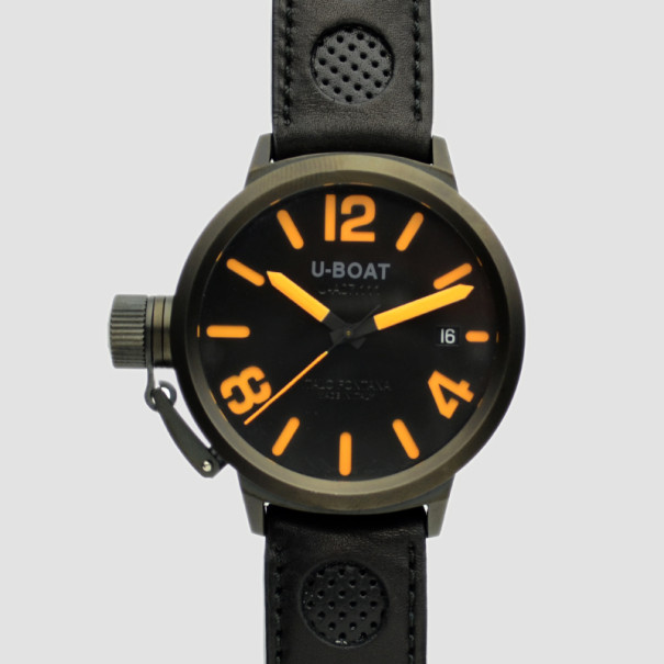 U-Boat Black FlightDeck SS Mens Wristwatch 50 MM