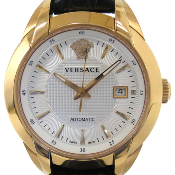 Versace Charcter GP Leather Black Mens Wristwatch