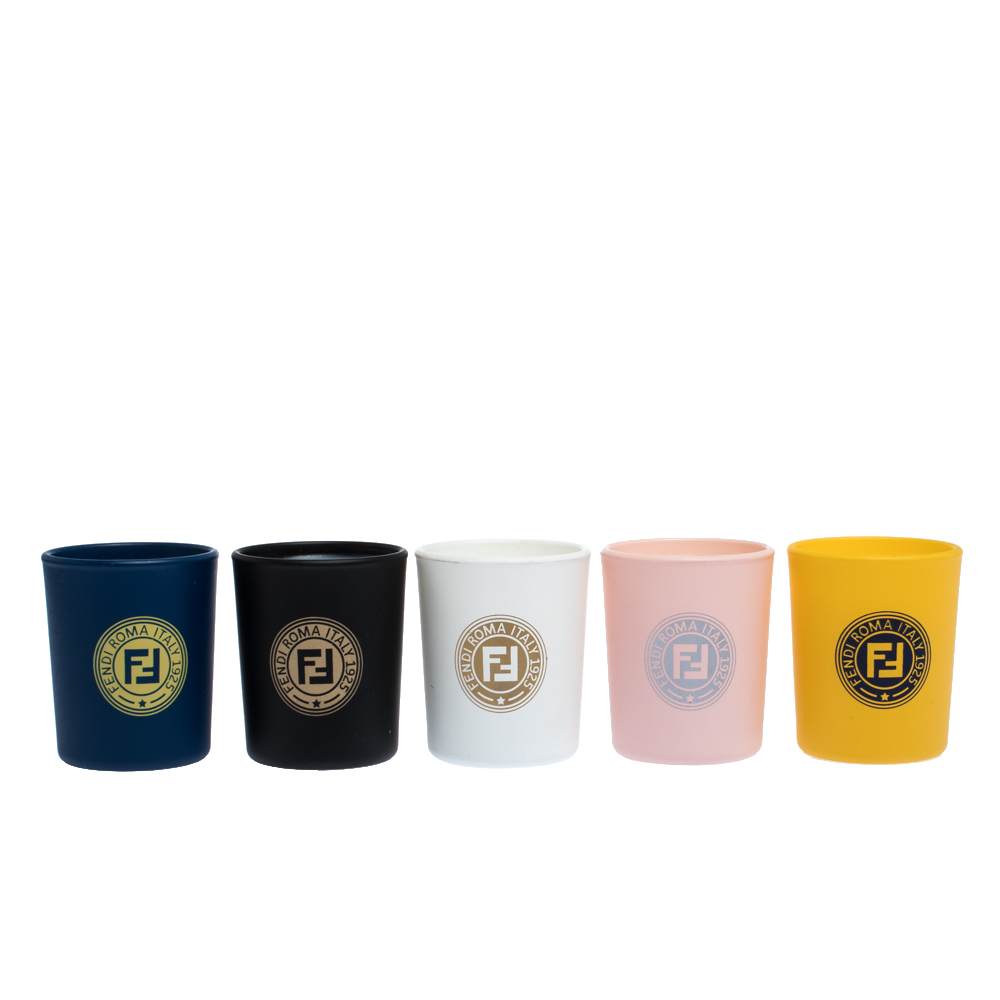 Fendi Multicolor Ceramic Jar Casa Mania Parfum Scented Candles Set.