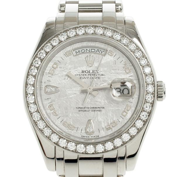 e56f25611 إشتري ساعة رولكس داي ديت ماستربيس ميتوريت ألماس للجنسين 39 مم K592406 20308  بأفضل الاسعار | ذا لاكشري كلوزيت