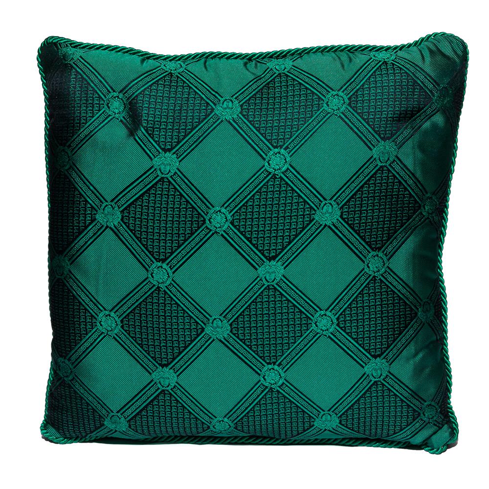 Versace Medusa Green & Black Cotton & Velvet Cushion
