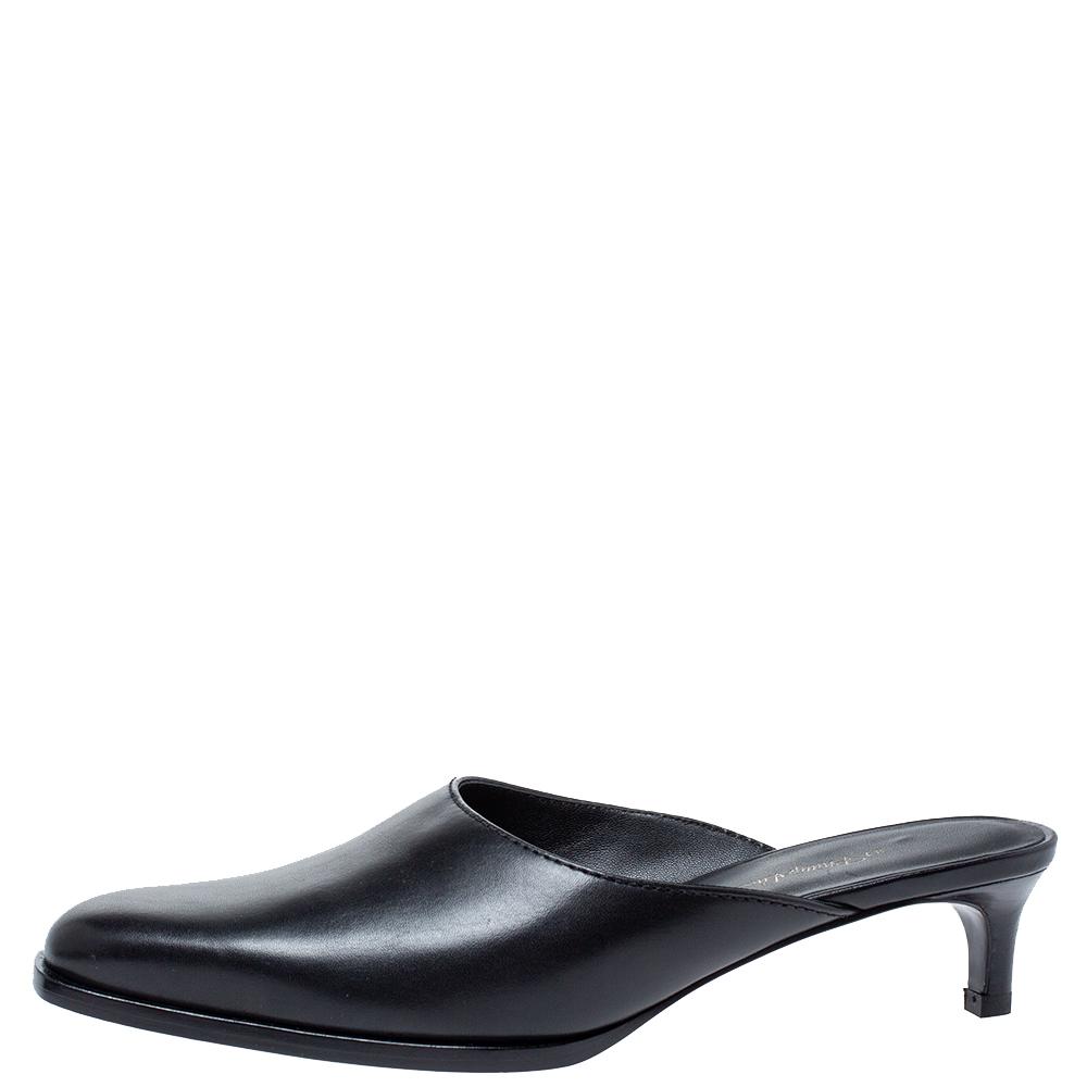3.1 Phillip Lim Black Leather Mule Sandals Size 35