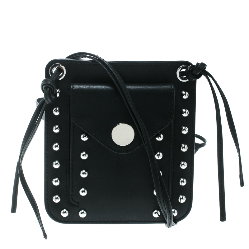 efc4ec92e553 Buy 3.1 Phillip Lim Black Leather Crossbody Bag 170437 at best price ...