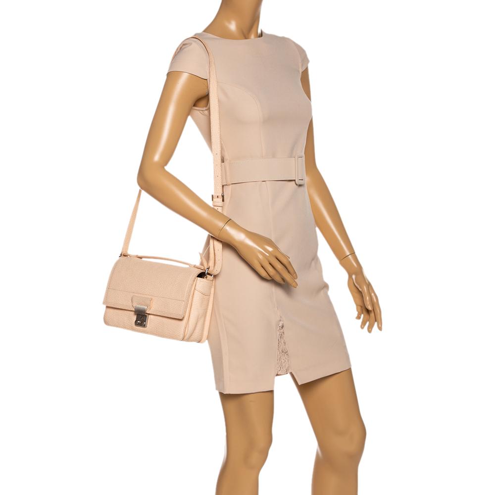 3.1 Phillip Lim Peach Leather Mini Pashli Bag