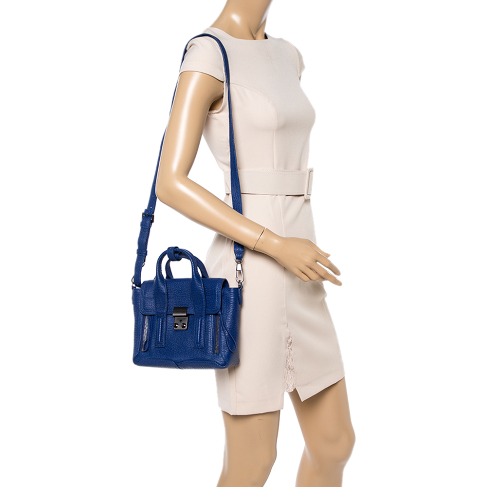 3.1 Phillip Lim Blue Leather Mini Pashli Satchel