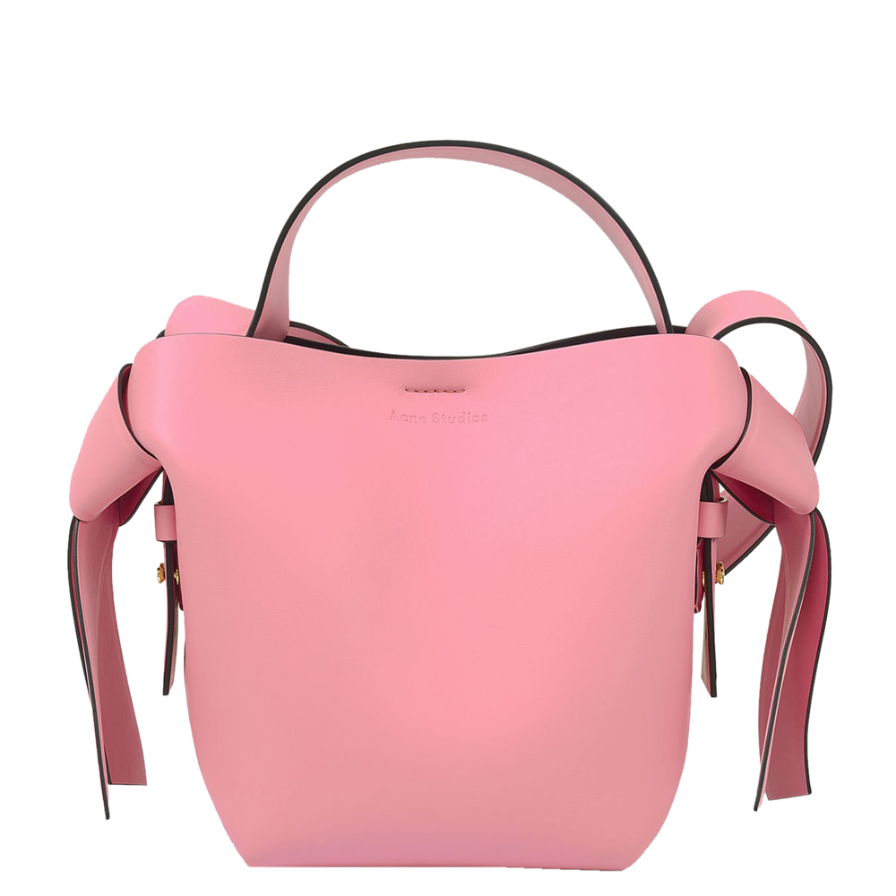 Acne Studios Pink/Black Musubi Micro Leather Bag