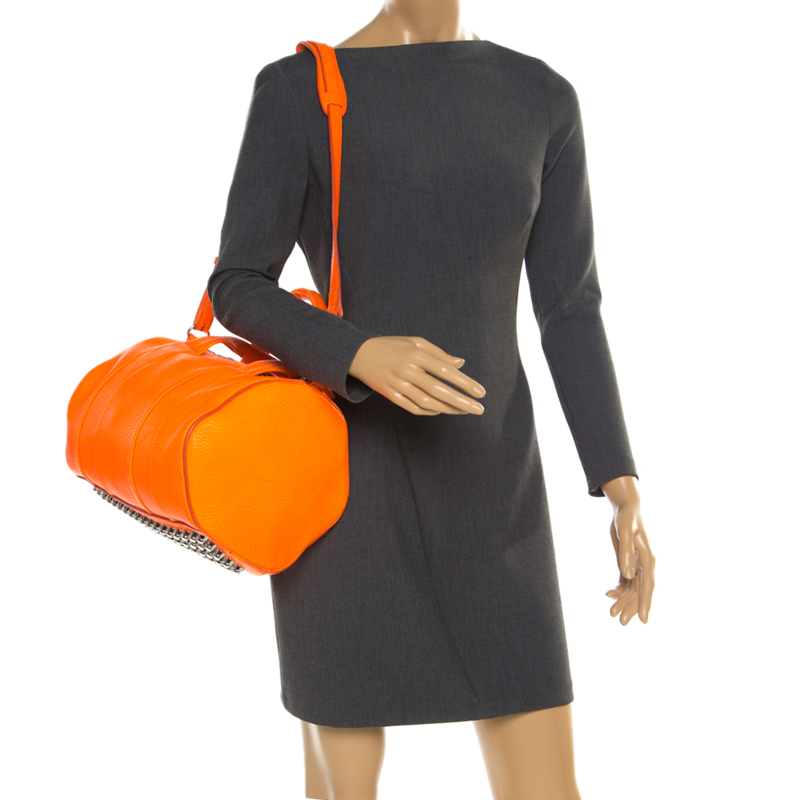 Alexander Wang Orange Leather Top Handle Bag