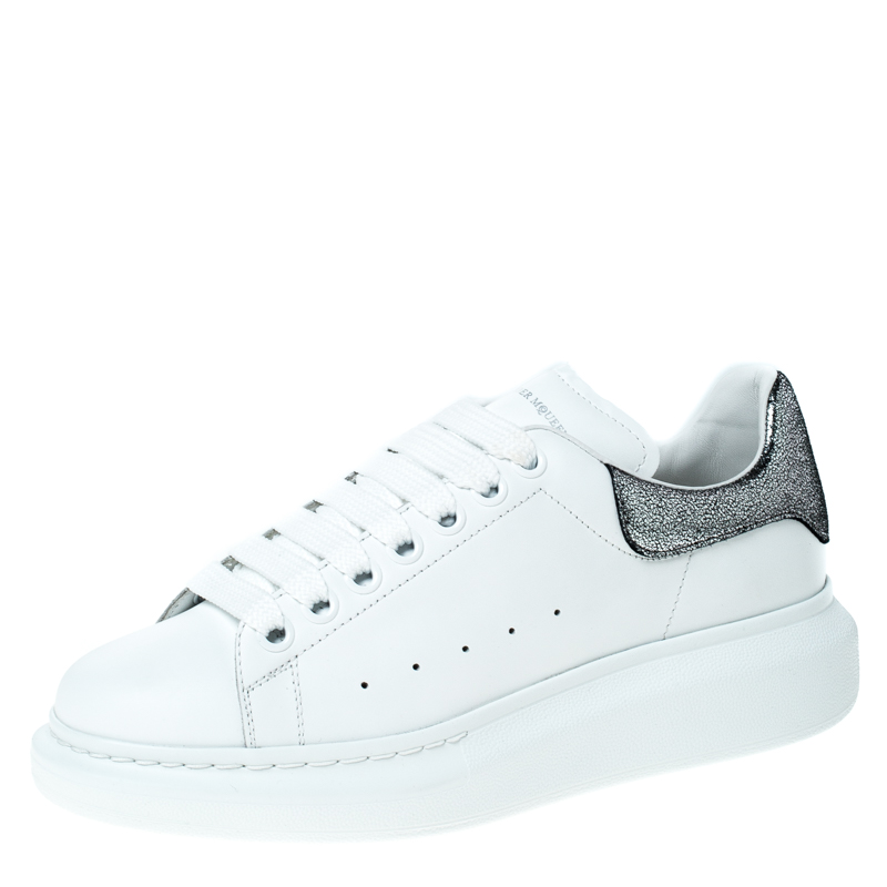Alexander McQueen White Leather Lace Up