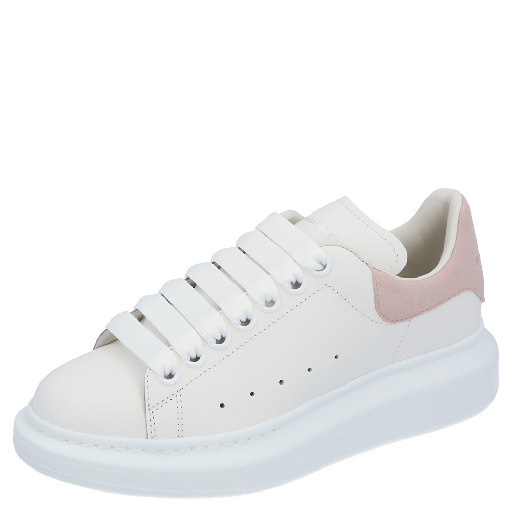 Pre-owned Alexander Mcqueen White/pink Oversized Sneaker Size Eu 36