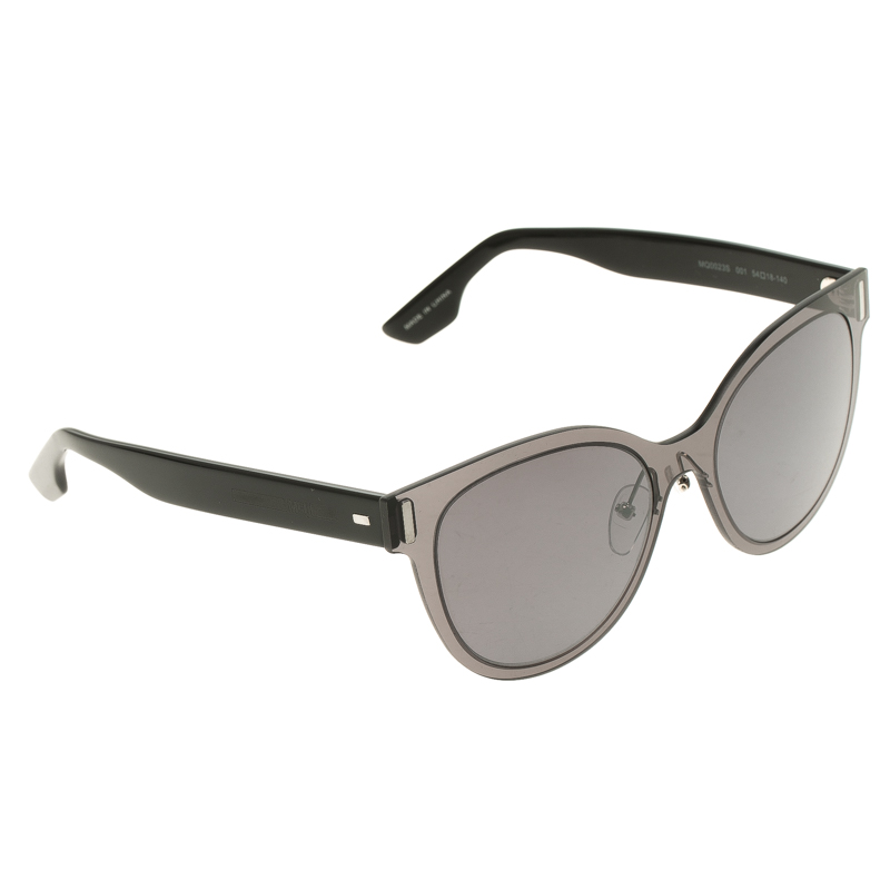 McQ By Alexander McQueen Grey/Black MQ0023S Cat Eye Sunglasses