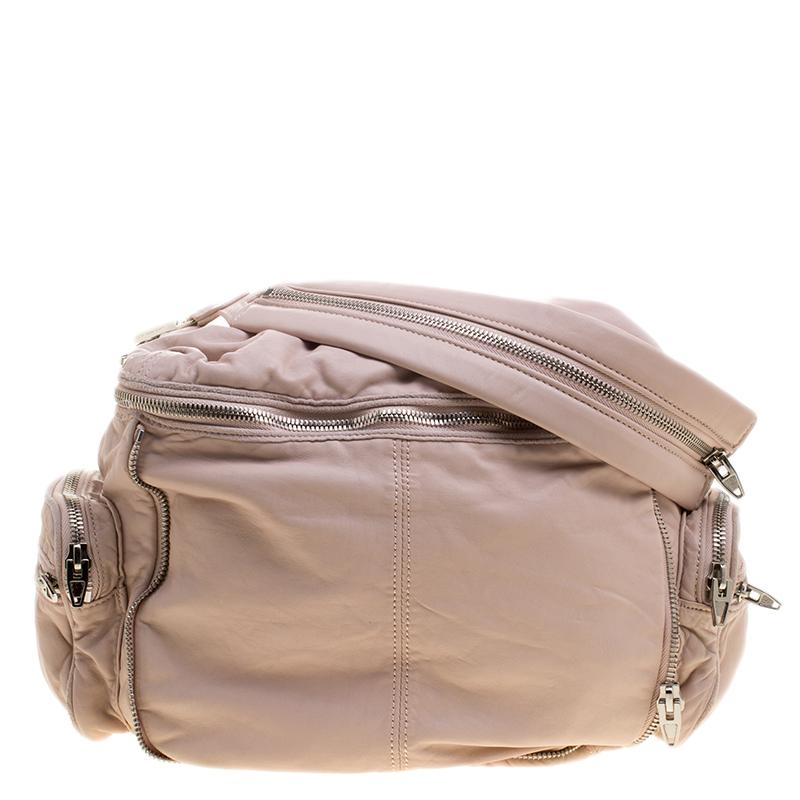 Alexander Blush Pink Leather Jane Shoulder Bag