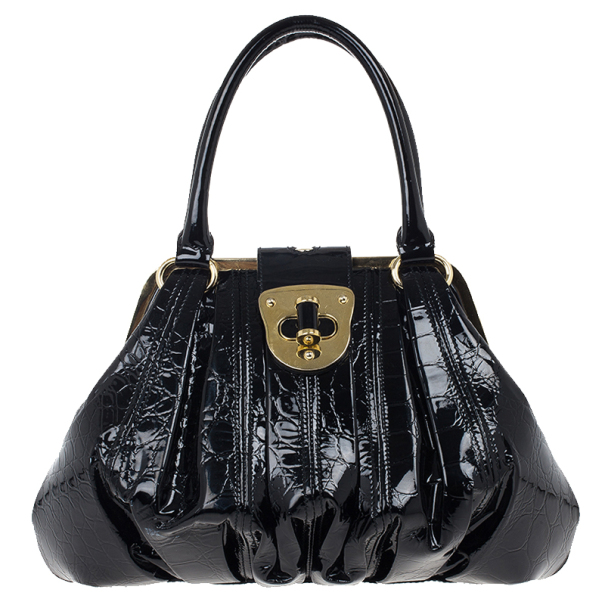 835263e99e81 ... Alexander McQueen Black Patent Elvie Leather Bag. nextprev. prevnext