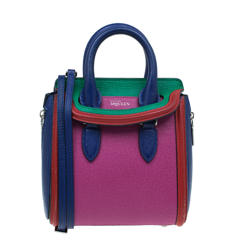 c02bc11c84f12 ... Alexander McQueen Multicolor Grain Leather Mini Heroine Shoulder Bag.  nextprev. prevnext