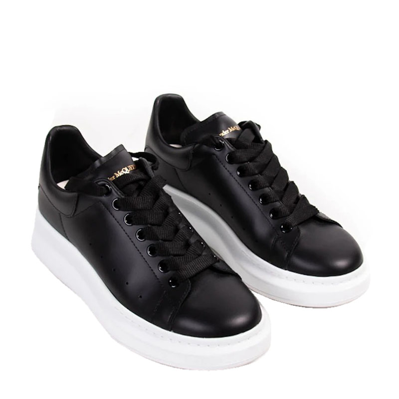 Alexander Mcqueen Black Leather Oversized Sneakers Size
