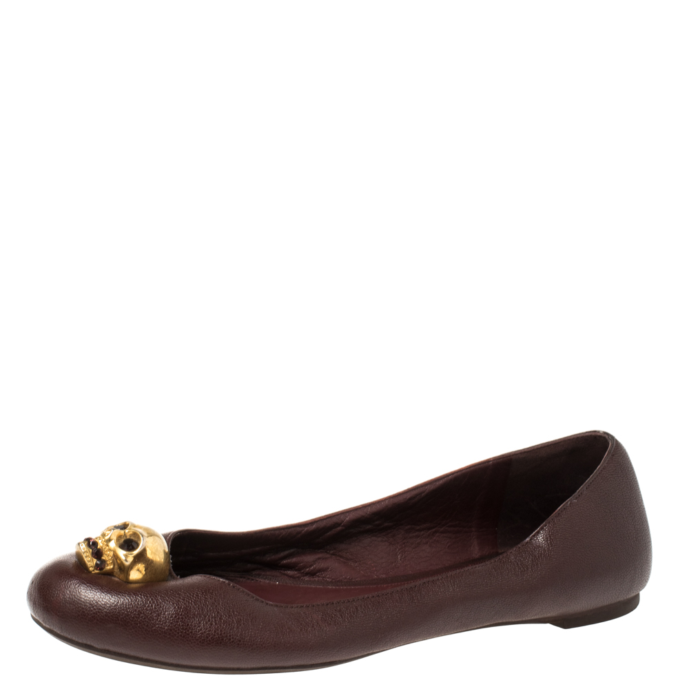 Alexander McQueen Burgundy Leather