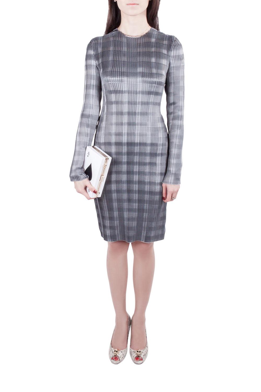Pre-owned Alexander Wang Erosion Grey Pleated Twill Satin Raw Edged Sheath Dress S