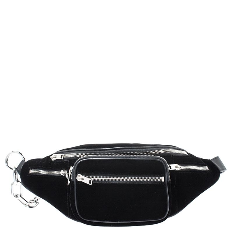 Alexander Wang Black Velvet Attica Belt Bag