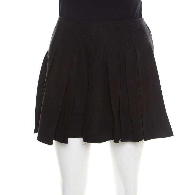 129a4f6b2220 Buy Alexander Wang Black Pleated Mini Skirt M 193839 at best price | TLC