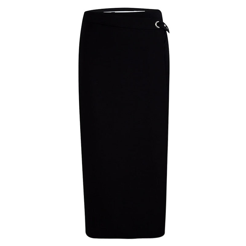 ecbd06628224 Buy T By Alexander Wang Black Wrap Midi Skirt S 90943 at best price | TLC