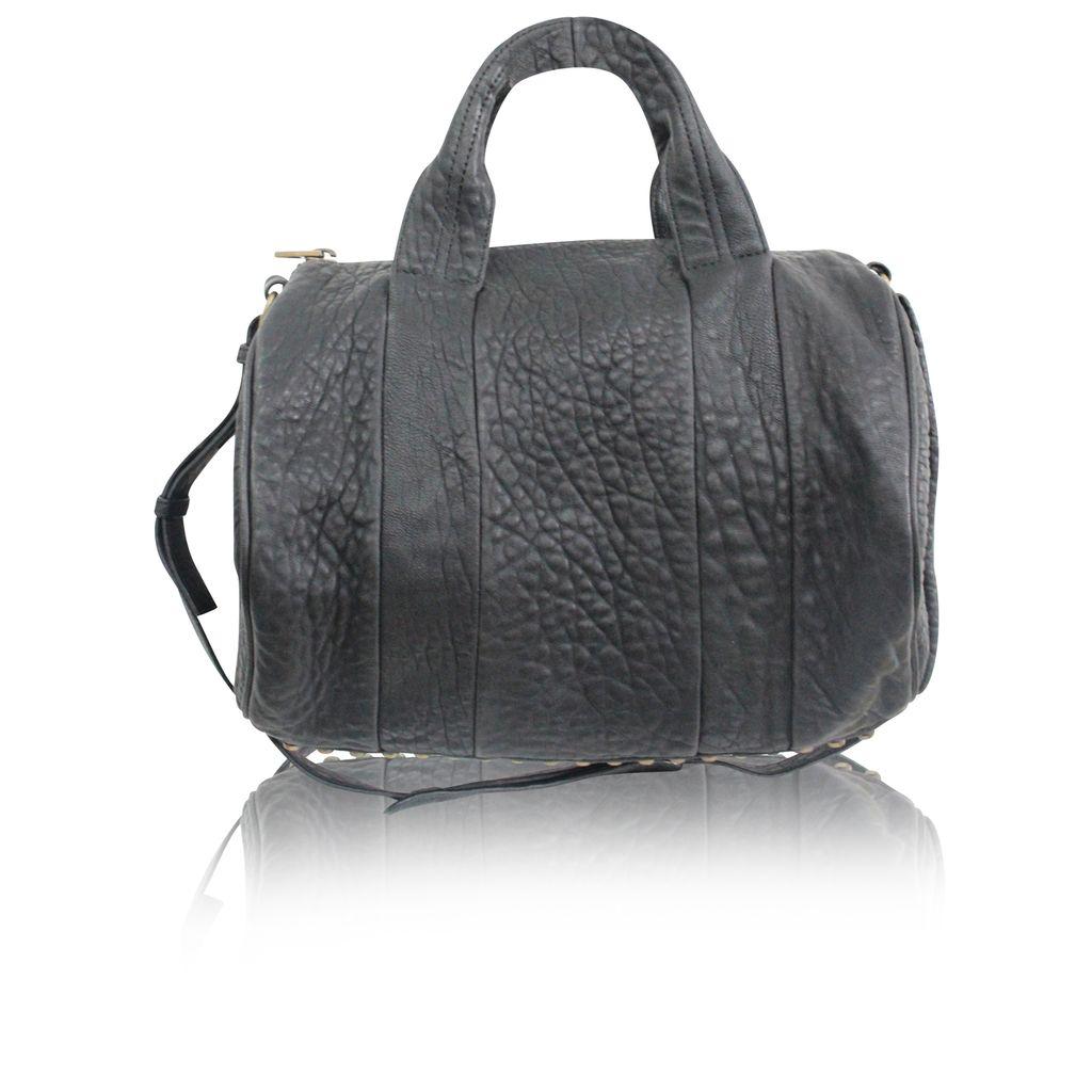 Alexander Black Leather Rocco Hobo Bag