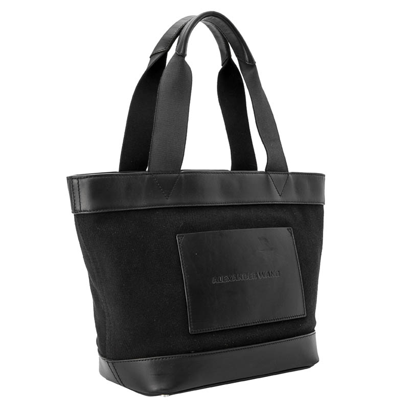 Alexander Wang Black Canvas And Leather Tote Bag