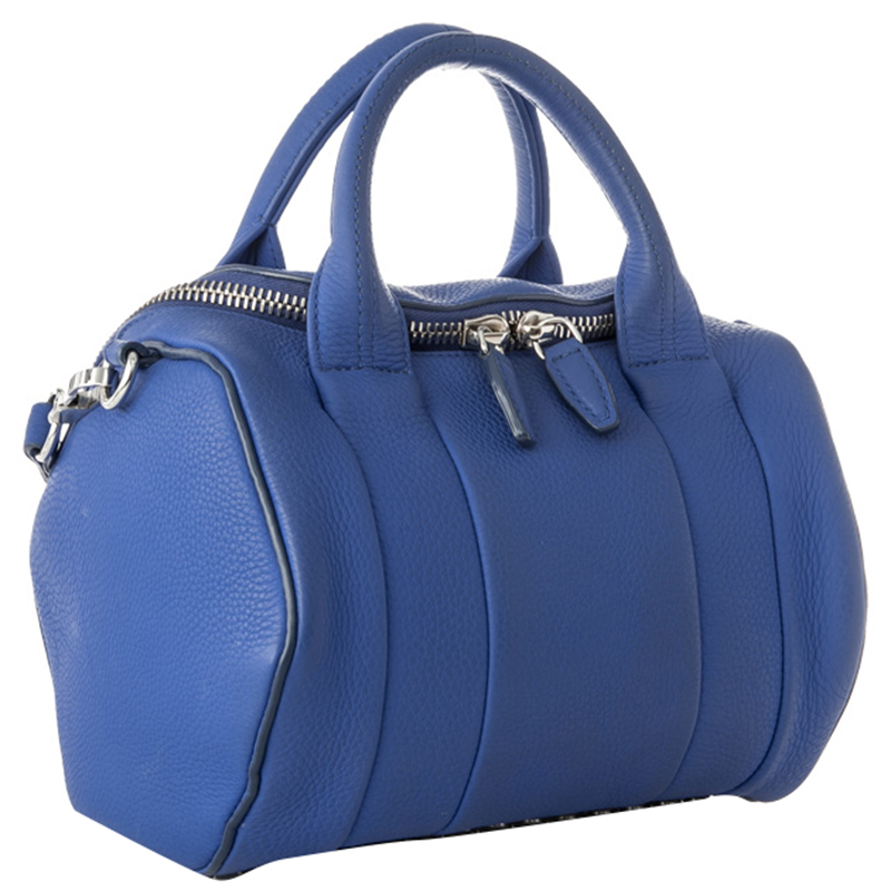 Alexander Wang Blue Leather Rockie Boston Bag