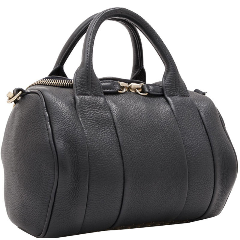 Alexander Wang Black Leather Rockie Boston Bag