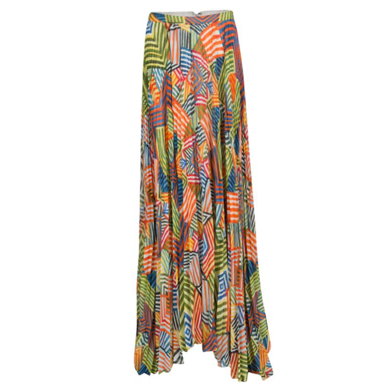 f0359f14f7 ... Alice + Olivia Multicolor Collage Striped Shannon Pleated Maxi Skirt M.  nextprev. prevnext