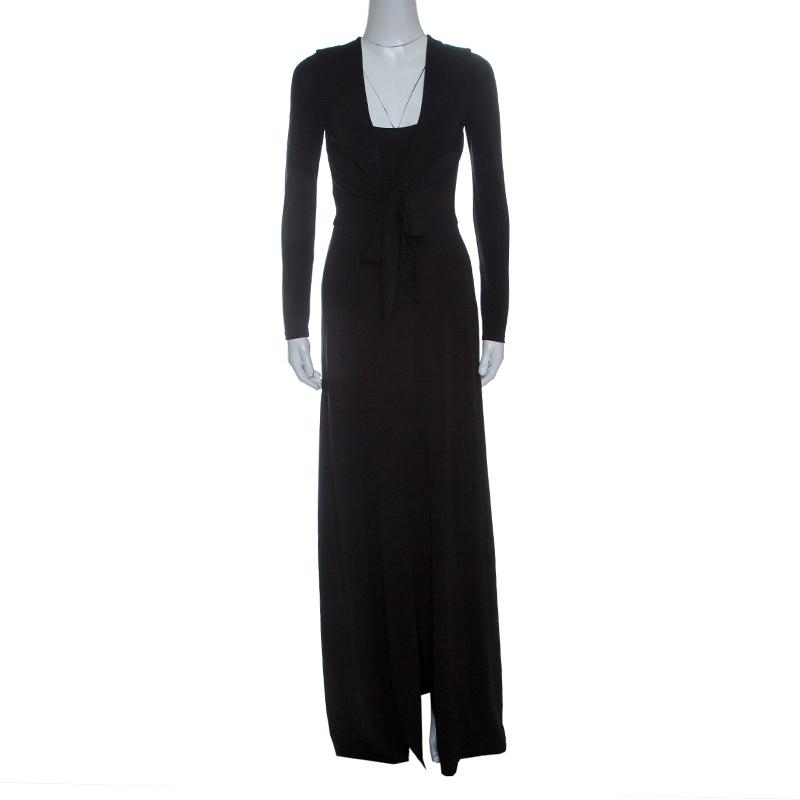 7946591aff26 ... Alice+Olivia Black Knit Tie Front Long Sleeve Salina Maxi Dress M.  nextprev. prevnext