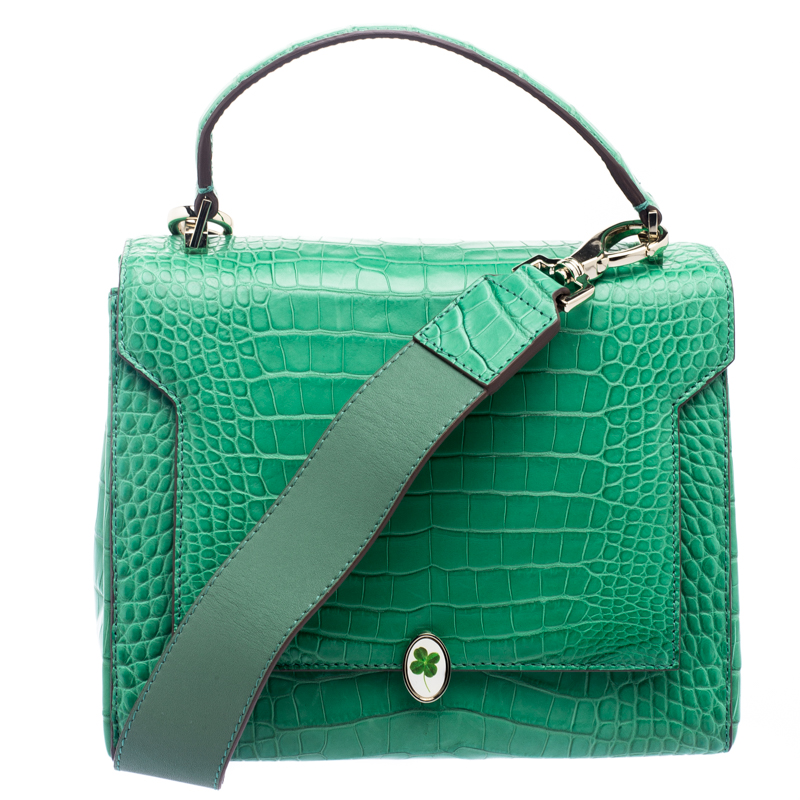 72ee3ec8f8 ... Anya Hindmarch Emerald Alligator Bathurst Bag. nextprev. prevnext