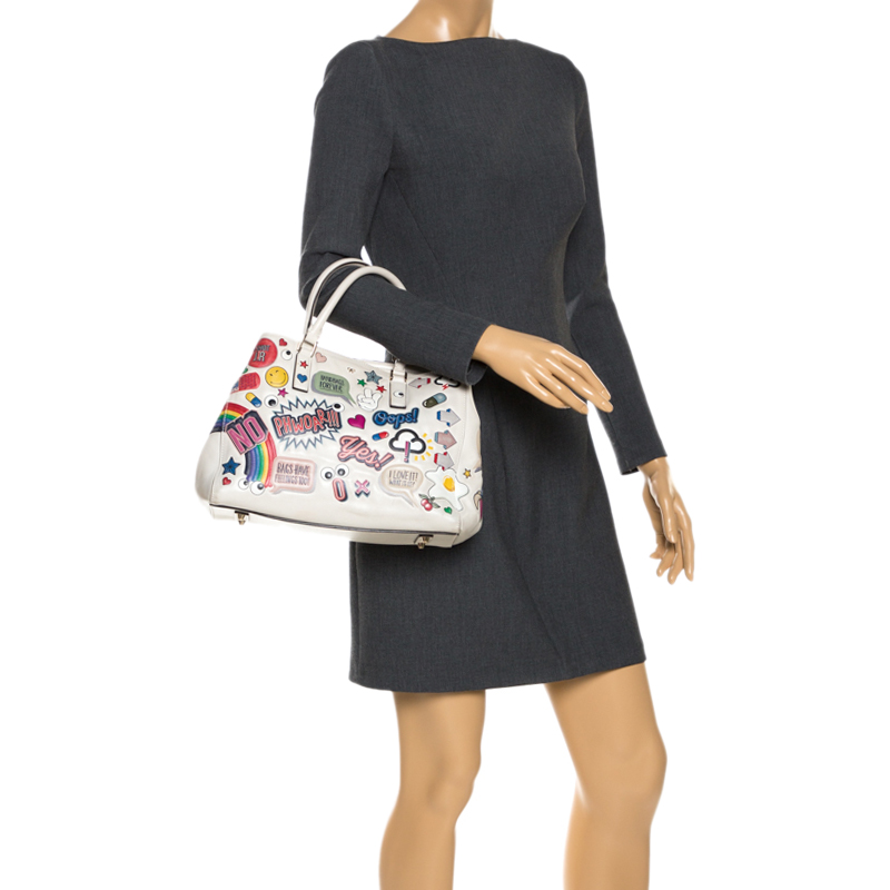Anya Hindmarch Multicolor Embossed Sticker Leather Small Ebury Tote