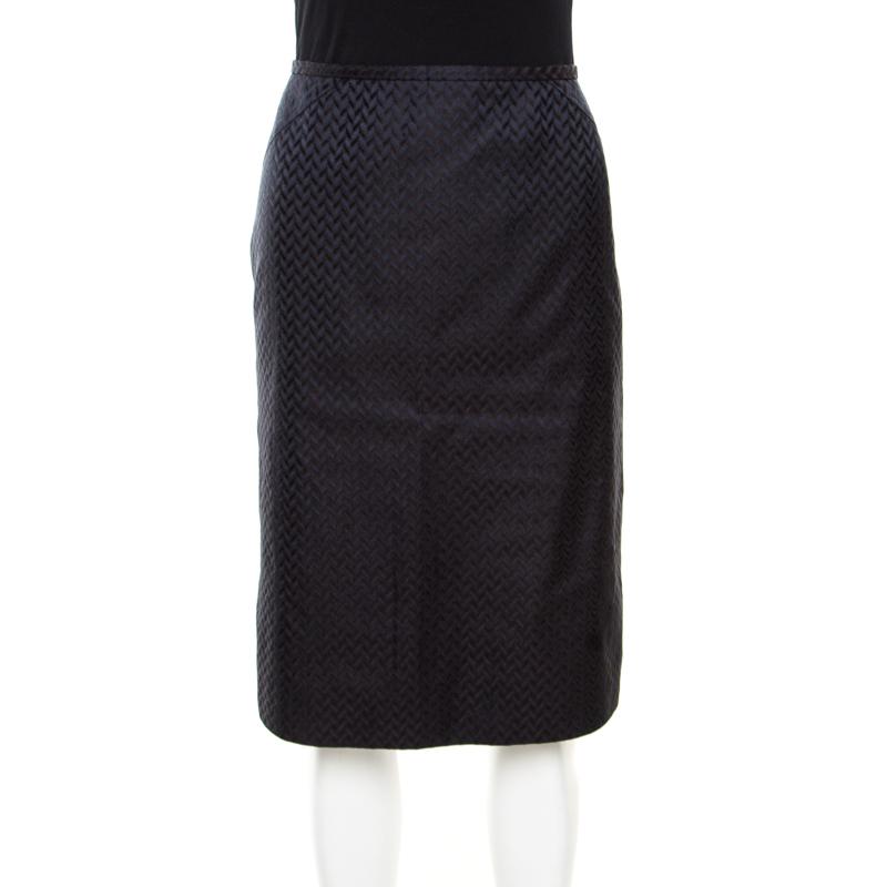 ecf05d3a0 ... Armani Collezioni Navy Blue Silk Jacquard Pencil Skirt M. nextprev.  prevnext