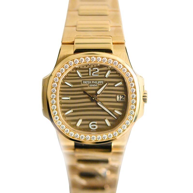 Buy Patek Philippe Gold Tone Dial 18k Rose Gold Diamond Bezel
