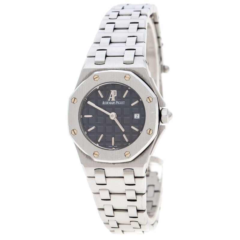 Audemars Piguet Purple Stainless Steel Royal Oak Off Shore Women's Wristwatch 27 mm